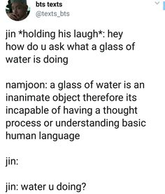 Hahahhahha  #jin #dadjokes #rm Jhope, Namjoon, Jimin, Bts Texts, Thought Process, Dad Jokes, Bts Pictures, Bts Jin, Bts Boys