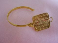 'Vintage Brass & Gold plated Calendar Bracelets' is going up for auction at  9am Sun, Sep 2 with a starting bid of $6.
