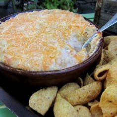 Chicken Enchilada Dip.  Yulia made this last week and it was awesome.