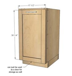 """Ana White   Build a 18"""" Kitchen Base Cabinet Trash Pull Out or Storage Cupboard with Door   Free and Easy DIY Project and Furniture Plans"""