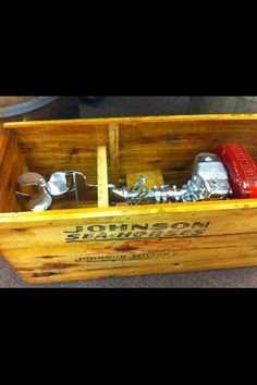 Johnson Sea Horse outboard in crate