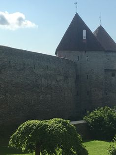 Castles with moats and a lovely park. Wondering where the princess is at! Tallinn, Estonia