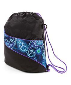 e9f6b9076608 Blue Paisley Insulated Drawstring Bag  zulily  zulilyfinds Mommy Workout