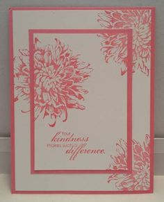 Double-time stamping using SU Blooming With Kindness - 10 minute card Making Greeting Cards, Greeting Cards Handmade, Stamping Up Cards, Rubber Stamping, Tampons, Sympathy Cards, Flower Cards, Butterfly Cards, Paper Cards