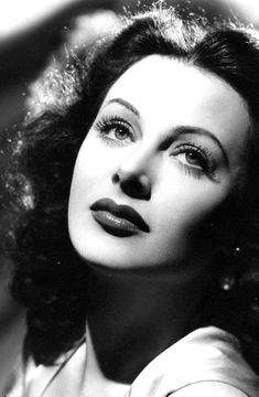 """""""Dark, had high cheekbones, but otherwise was delicately, rather sensitively beautiful."""" - George Antheil on Hedy Lamarr"""