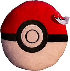 PokePillows Soft Stuffed Cushion Pokeball Throw Pillows-Two Sizes to Fit all Desires-Perfect Item for You and All Your Pokemon Loving Friends-Take them out to your Pokemon GO Journey (Small)