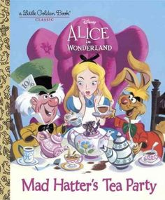 Based on Walt Disney's Alice in Wonderland , this delightful classic Little Golden Book was originally published in 1951. Boys and girls ages 2 to 5 will love this story that retells the scene in whic