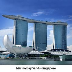 #MarinaBaySands- Singapore The contractor of Marina Bay Sands was Ssangyong Engineering and Construction. The 12,400 square meters SkyPark at the Marina Bay Sands was created using 7,000 tons of steel while the hallmark of the place, Crystal Pavilions used 650 tons of structural and architectural steel.