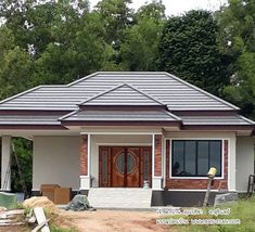 24 Ideas Exterior Apartment Design Dream Homes Round House Plans, New House Plans, Country House Plans, Facade House, House Roof, Asian House, Modern Floor Plans, Bungalow House Design, House Entrance