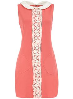 Coral collar dress
