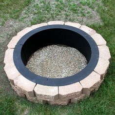 Building your own in- or above-ground fire pit is easy with the help of the Sunnydaze Decor Heavy Duty Above or In-Ground DIY Fire Pit Ring . The heavy-duty. Cheap Fire Pit, Diy Fire Pit, Fire Pit Backyard, How To Build A Fire Pit, Make Build, Backyard Camping, Backyard Seating, Outdoor Fire Pits, Paver Fire Pit
