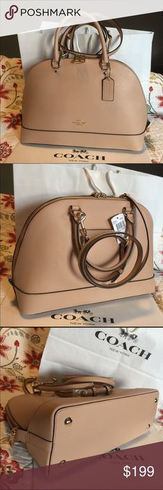 Coach Purse 100% Authentic Coach Purse, brand new with tag!.color Beechwood/Nude. Coach Bags Crossbody Bags