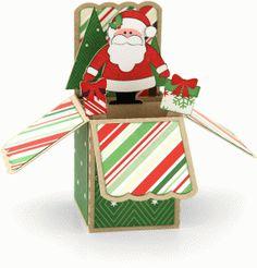 Silhouette Design Store - View Design #67738: a2 santa christmas box card