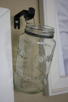 Mason Jar Flower Bucket  from The Created Home: Homeschool Classroom Makeover   http://thecreatedhome.blogspot.ca/2011/08/homeschool-classroom-makeover.html