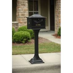 4EverProducts Mailbox with Post Included & Reviews | Wayfair Victorian Mailboxes, Antique Mailbox, Mailbox Numbers, Mailbox Post, Wall Mount Mailbox, Mounted Mailbox, Wood Anchor, Gibraltar Mailboxes, Joss And Main