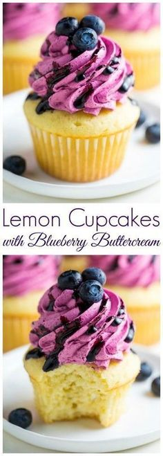 Cupcakes with Fresh Blueberry Buttercream Holy YUM! These Lemon Cupcakes with Fresh Blueberry Buttercream are a must bake this Summer. These Lemon Cupcakes with Fresh Blueberry Buttercream are a must bake this Summer. Mini Desserts, No Bake Desserts, Just Desserts, Dessert Recipes, Baking Desserts, Healthy Cupcake Recipes, Lemon Desserts, Dinner Recipes, Plated Desserts