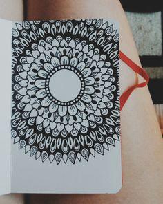 Mandala doodle drawing