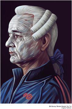 Bill Murray for Tss by Evgeny Parfenov, via Behance