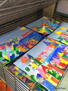 PAINTED PAPER: Paul Klee Inspired Villages