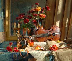 35PHOTO - Андрей Морозов - Натюрморт со скрипкой и розами