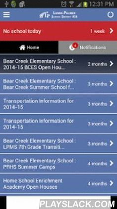 Lewis Palmer School District  Android App - playslack.com ,  Official mobile app for the Lewis Palmer School District.Staying in touch and in-the-know is easier than ever and now it's all in one place.From student grades, lunch menus, district news, school news, and emergency notifications. This app puts school information at your fingertips 24/7.Alerts deliver weather closures and breaking emergency news notificationsThe school directory links you to contact information and quick facts for…