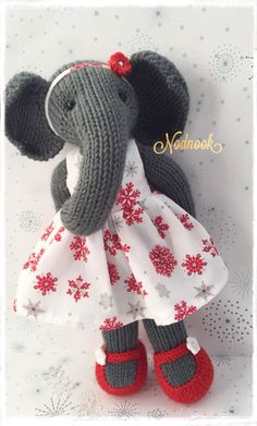 Excited to share the latest addition to my #etsy shop: Hand knitted Elephant