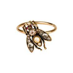 Diamond Bug Ring - Annina Vogel (€1.105) found on Polyvore