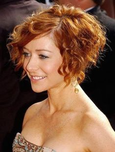 A Line Short Curly Haircuts 2015 - 2016 for Women