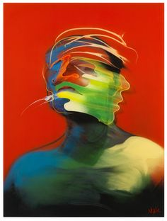 Adam Neate, 'Red Portrait (Movement),' 2013, Elms Lesters Painting Rooms