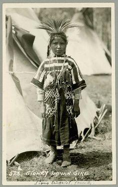 Assiniboine girl - circa 1910