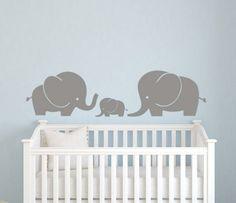 wandgestaltung deko babyzimmer junge - elefanten