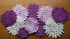 Wonderful Set of Hand Dyed Vintage Doilies. These doilies will be perfect for scrapbooking, sewing crafts, holiday decorating, home décor, and so