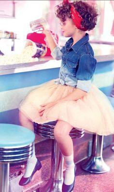 cute retro girl