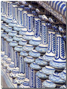 Ceramic balustrade, Seville | Andalusia | Spain