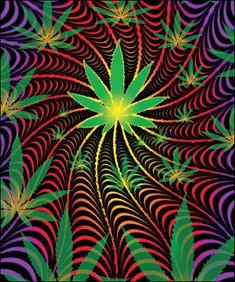 Psychedelic Marijuana Blanket www.trippystore.com/psychedelic_marijuana_blanket.html