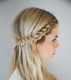 Create a headband with your hair by following this front-row braid hairstyle tutorial.