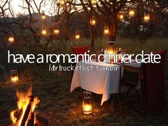 Have a Romantic Dinner Date ✔️ 04 Oct 2015- Creamy Bacon Pasta and hot fudge chocolate pudding by candle light and cuddling on the couch watching scary movies