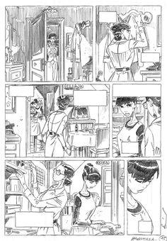 Stripverhalen originele illustratie, Napoleon Gallery: AMOROSTASIA - originele plaat 15 AMOROSTASIA alternatief geschetst door Cyril BONIN - 15