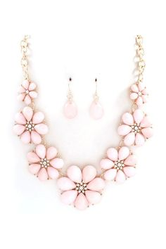 Pink Petal Statement Necklace