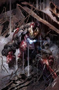 Tony Stark: Iron Man Written by Dan Slott Art by Valerio Schiti Cover by Alexander Lozano Marvel Comics, Marvel Heroes, Marvel Avengers, Chibi Marvel, Marvel Funny, Iron Man Kunst, Iron Man Art, Marvel Universe, Superior Iron Man