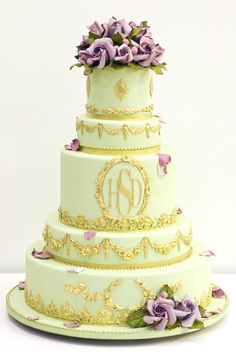 For The Bride magazine- Wedding Cakes Beautiful Wedding Cakes, Beautiful Cakes, Amazing Cakes, Glamorous Wedding, Ron Ben Israel, Peacock Cake, Cake Borders, Polymer Clay Cake, Fashion Cakes