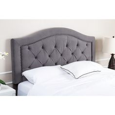 ABBYSON LIVING Hillsdale Tufted Grey Velvet Headboard - Overstock Shopping - Big Discounts on Abbyson Living Headboards