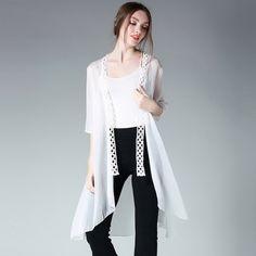 >> Click to Buy << 2017Summer Women Long Cardigan Sun-protection Chiffon shirt asymmetrical air conditioning shirt casual tops plus size XXXXL 6532 #Affiliate