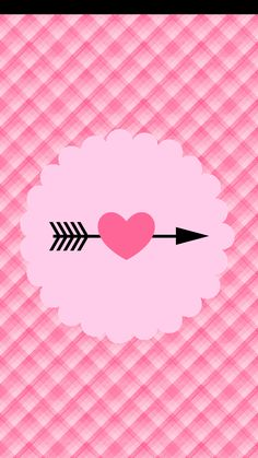 Pink Gingham And Heart Wallpaper