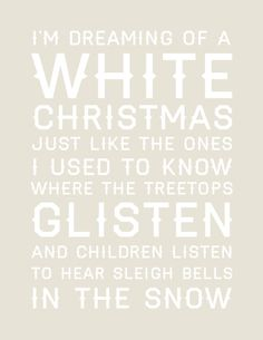 You print 8x10 White Christmas print by sugargrenade on Etsy, $12.00