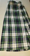 Vintage LAIRD-PORTCH Scotland Plaid Kilt Skirt 100% Pure Wool UK 24""