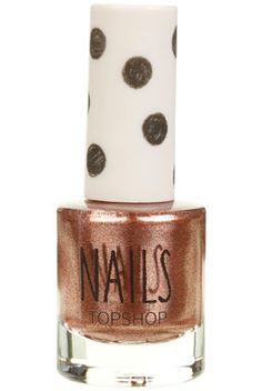 Topshop nail varnish in Hyperreal - rose gold coloured