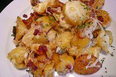 Chefkoch.de Rezept: Bratkartoffeln mit Porree und Käse