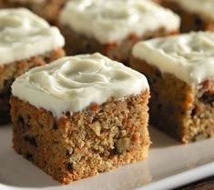 Classic Carrot Cake -- A great dessert and it has less carbs than traditional versions. Try it! DiabeticGourmet.com #diabeticdesserts