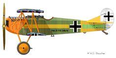 Fokker D.VII Jasta-11 Pilot: Willi Gabriel, 1918